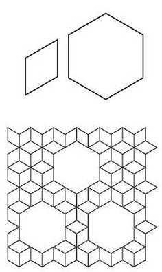 Free English Paper Piecing 7 Sisters Variation Blank Sheet Pattern