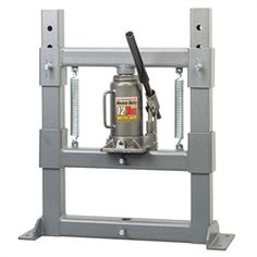 "Heritage® Hydraulic Bench Press      Has a compact 6"" x 22"" footprint     Maximum Open Height: 9-1/2""     Width Between Posts: 14""     Hydraulic jack has a 12 ton capacity  $440"