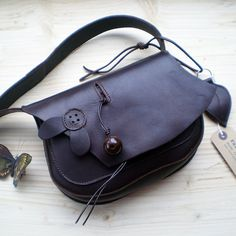 Handmade leather bag Bohemian Fairy MARMITE deepest by Fairysteps, £75.00