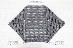 Easy, Chunky Crochet Sweater - Free Pattern from Make & Do Crew - Free Knitting PatternVideo Tutorial: How to Crochet a Sweater (the free Dwell Sweater pattern)Creatively constructed from a simple rectangle, this flattering chunky crochet sweater comes to Crochet Diy, Crochet Simple, Pull Crochet, Chunky Crochet, Crochet Cocoon, Crochet Cardigan Pattern, Crochet Jacket, Crochet Shawl, Crochet Stitches