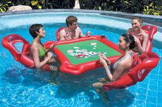 Now this is just way cool. Texas Hold'em Pool Float.
