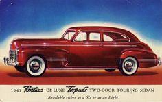 1941 Pontiac De Luxe Torpedo Two-Door Touring Sedan