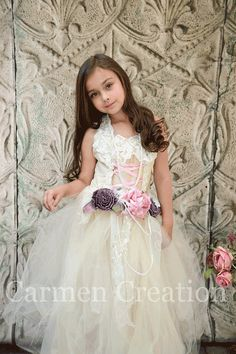 Flower Girl Dress  Victorian Flower Girl Dress  by CarmenCreation, $125.00