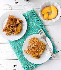 Fresh Peach Sour Cream Coffee Cake - BoulderLocavore.com