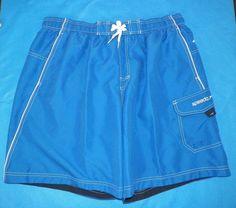 SPEEDO Men's Blue Swimwear Beach Surfing Board Cargo Shorts Size XL #9 #SPEEDO #BoardShorts
