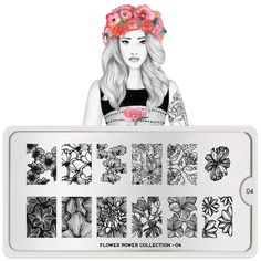 Flower Power 04 - Chic Floral Prints Palettes Large