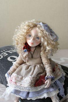 Купить Майя - бежевый, кукла, кукла ручной работы, кукла в подарок, кукла интерьерная, куклы