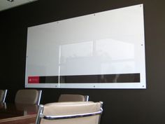 Changing the look of the whiteboard. Combining function + style to deliver a bespoke range of dry erase and magnetic whiteboards. Glass Panels, Colorful Interiors, Custom Whiteboards, Interior Design, Logo, White White, Chair, Printed, Wall