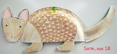 Paper plate armadillo - For Texas Unit