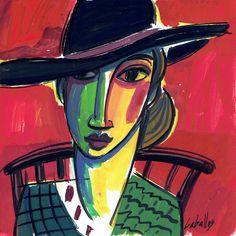 Mujer con sombrero n