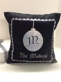 fb1f4711ad1 Christmas Ornament Pillow by Wicked Stitches