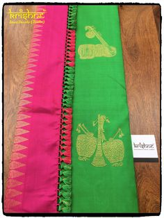 Latest Silk Saree Pallu Knots from Krishne Tassels Saree Kuchu New Designs, Saree Tassels Designs, Silk Saree Blouse Designs, Simple Blouse Designs, Stylish Blouse Design, Latest Silk Sarees, Designer Blouse Patterns, Kurta Designs Women, Indie