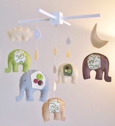 Handmade Feature: Elephant Nursery Mobile — Giggle Hearts - Party Ideas for Celebrating Everyday with Giggles, Love + Sparkles
