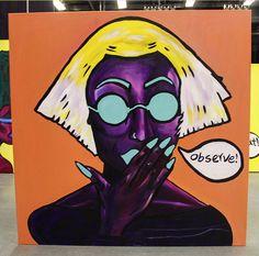 "Observe Acrylic on Canvas 48""x48"" by Nezifah Momodou http://nezimomodu.com/ http://aboveignorance.tumblr.com/ https://instagram.com/theafricanartist/ https://twitter.com/nezifah https://soundcloud.com/nezi-momodu https://youtube.com/channel/UCe0nBnh5cPYFfKw5XF8Kcrg Nezifah.momodu@ttu.edu"