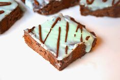 Chocolate Mint Protein Brownies
