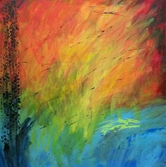 24 x 24 Large Abstract Original Painting by 1sassycreation on Etsy