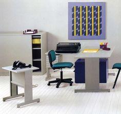 Olivetti, storia di un'impresa - Un ufficio arredato con mobili della Serie 45