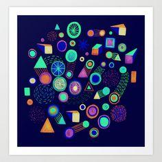 Galaxies II Art Print by Marcelo Romero - $17.00