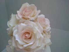 Hand made gum paste roses Gum Paste, Roses, Cake, Flowers, Handmade, Pie, Hand Made, Pink, Mudpie