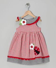 Take a look at this Good Lad Red Ladybug A-Line Dress - Girls on zulily today! Little Dresses, Little Girl Dresses, Nice Dresses, Girls Dresses, Toddler Dress, Baby Dress, Frocks For Girls, Kind Mode, Kids Outfits
