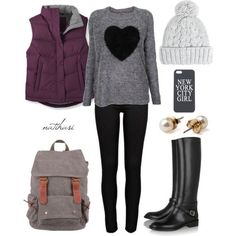 Pretty fall/winter outfit. Cute and comfy