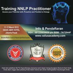 Rahasia kemampuan dahsyat otak manusia akan dikupas melalui pelatihan NLP Practitioner tgl 11-12 mar 2015 di oasis amir hotel jakarta, daftar sekarang di www.valiusacademy.com dan invite BBM 7A72449F