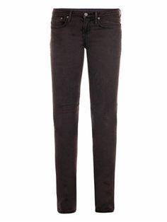 Acid wash mid-rise skinny jeans