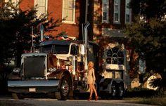 Trucks And Girls, Big Trucks, Kempo Karate, Peterbilt Trucks, Heavy Truck, Kustom, Rigs, Trailers, Babe