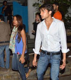 Karan Johar, Shahrukh Khan, Malaika Arora Khan at Olive Restaurant in Mumbai on June 22, 2013