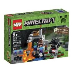 We bought the Minecraft The Cave Lego Set for our 8 year old son. This Minecraft The Cave Lego Set is cool because it comes with 2 minifigs and the giant spider. Toys R Us, Kids Toys, Baby Toys, Lego Minecraft, Minecraft Stuff, Minecraft Party, Steve Minecraft, Minecraft Toys For Kids, Minecraft Crafts