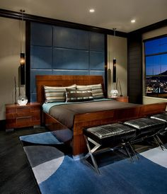 30 Masculine Bedroom Ideas Evoking Style - http://freshome.com/30-masculine-bedroom-ideas/