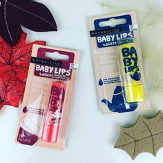 Maybelline Baby Lips Holiday Spice Editions in Vanilla Cupcake and Vanilla Chai Latte