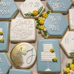What a TREAT! ⠀ Absolutely love these cookies from @caseybatescreates featuring the couple's Shuler Studio wedding monogram in all white. In addition to their monogram, the cookies included the wedding date, flowers, and other special sayings. Perfect for a shower, bridal luncheon, reception, and so much much. Happy wedding weekend to Alison + Jonathan! ⠀ Have a sweet Friday✨ . . . #customcookies #custommonogram #bridalshower #showerideas #weddingcookies #monogramcookies #weddingdesserts…
