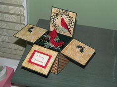 Christmas Cardinal in a box by beechwood - Cards and Paper Crafts at Splitcoaststampers