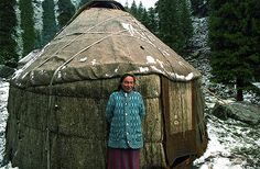 yurt...*Click to see more of this nomadic culture and of a modern yurt home idea on flickr (You have to click back or forth on the arrows there.)
