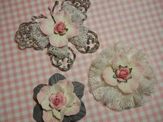 Pretty Butterfly and Flower Embellishments  by ShalomEverlasting,