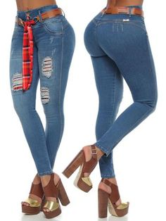 'Marcie' Butt Lift Levanta Cola Ankle Jean ZG6101 – Colombiana Boutique Thick Girls Outfits, Girl Outfits, Push Up Jeans, Best Jeans, Curvy Women Fashion, Ankle Jeans, Skinny Fit, Perfect Fit, Stretchy Material