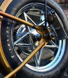 Really diggin how my rear wheel came out. Harley Davidson Knucklehead, Harley Davidson Chopper, Harley Davidson Motorcycles, Motorcycle Equipment, Motorcycle Art, Choppers, Fire And Stone, Bike Trailer, Bobber Chopper