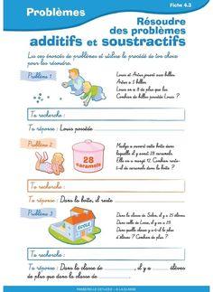 10 fiches pour aborder les différentes approches de la résolution de problèmes au CE1 et au CE2 French Worksheets, Kids Math Worksheets, Math For Kids, Fun Math, Teachers Corner, Math Problems, 4th Grade Math, Addition And Subtraction, Kids Learning