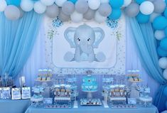 Baby elephant inspired for this amazing baby shower elephantbabyshower elephantinspired babyelephant babyshower itsaboy sweetbaby… Distintivos Baby Shower, Peanut Baby Shower, Elephant Baby Shower Cake, Shower Bebe, Baby Shower Balloons, Baby Boy Shower, Elephant Baby Shower Centerpieces, Elephant Theme, Shower Party