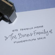 I really want one of these cute return address stamps by LetterGirl (on Etsy) - $38.  Good gift idea too.