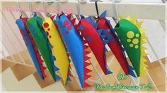 I was planning for a dinosaur themed birthday party for my boys for the past 3 weeks, came across these very cute dinosaur tail on a Fac...