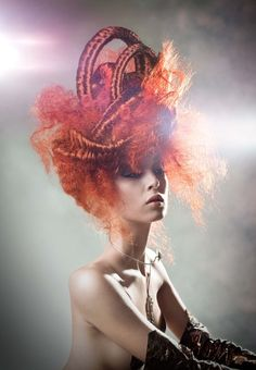 Avant garde hair by Alain Pereque. Photo Dominik Vincent Styling Anik D Leduc