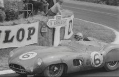 Car number 6, Maurice Trintignant and Paul Frère in an Aston Martin DBR1/300.Le Mans 1959