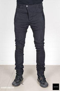 Boris Bidjan Saberi BBS P11-F176R 585 € | Seven Shop Black Jeans, Fall Winter, Pants, Shopping, Fashion, Trouser Pants, Moda, Fashion Styles, Black Denim Jeans