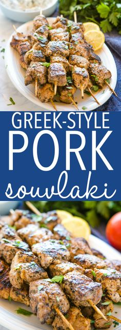 Personalized Graduation Gifts - Ideas To Pick Low Cost Graduation Offers These Easy Greek-Style Pork Souvlaki Skewers Are A Delicious Main Dish That's Easy To Make And Perfect For Summer Enjoy Them With Tzatziki Recipe From Thebusybaker. Grilling Recipes, Pork Recipes, Crockpot Recipes, Chicken Recipes, Cooking Recipes, Barbecue Recipes, Meatloaf Recipes, Cooking Ideas, Keto Recipes