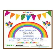 Girl Scouts St Year Certificate In My Etsy Shop  Girl Scouts