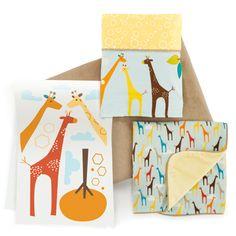 Giraffe Safari Complete Sheet™ bumper-free crib bedding