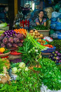 vegetable market in Vietnam #vietnam