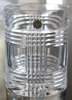 5e277db53092 Ralph lauren glen plaid short double old fashioned 4 1/2in 16 crystal new  glass